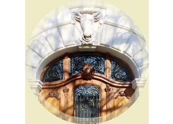 Door at the Kollegium Karl Borromäus