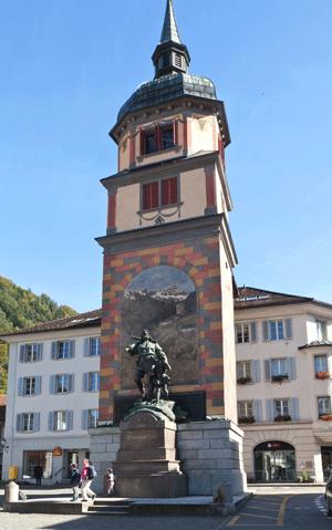 william tell monument in altdorf switzerland